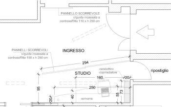 Progetto l'angolo studio è stato ricavato all'ingresso dell'appartamento
