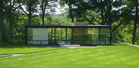 Philip Johnson architetto, la Glasshouse