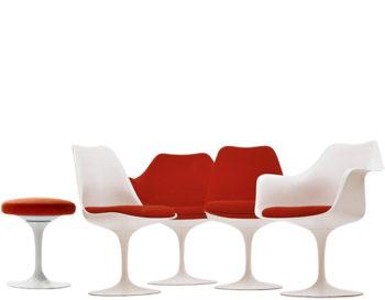 formati diversi della sedia Tulip di Saarinen