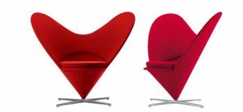 poltrone a forma di cuore Heart Cone Chair di Vitra