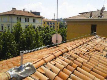 linee vita per ancoraggio delle imbracature degli operai sul tetto