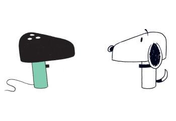 lampada Snoopy di Flos, disegno originale dei fratelli Castiglioni