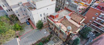 Casa Vicens di Gaudì foto di Casa Vicens nel contesto del quartiere Gràcia a Barcellona
