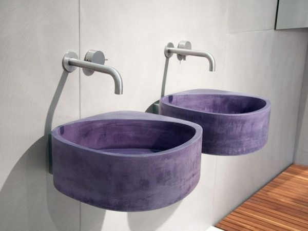 Ultra Violet colore Pantone 2018: Lavabo Elle3 di Moab80 Ultra Violet