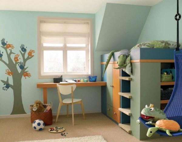 pitture contro l'inquinamento domestico FOTO camera bambini con pitture ecologiche