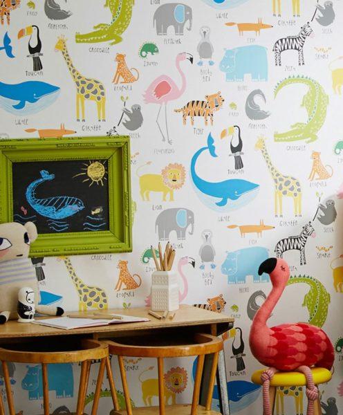 calcolare i rotoli di carta da parati per tappezzare una stanza. Nella foto carte da parati per bambini, dal sito cartedaparatideglianni70.com