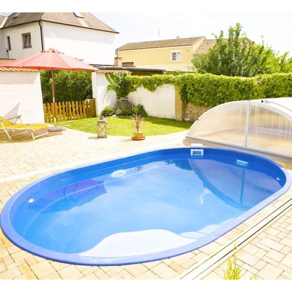 Piscine prefabbricate semplici da installare piscine per giardino terrazzo senza lavori in muratura FOTO: Piscina in fibra di vetro BSVillage