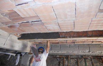 ristrutturazione del solaio lavori in corso