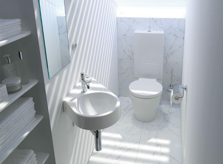 Bagno Piccolo Sottoscala : Piccolo bagno per ospiti casanoi
