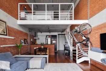 Loft, abitazione non convenzionale Foto loft con soggiorno e soppalco