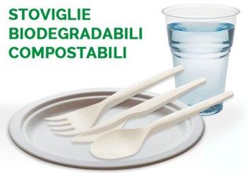Europa al bando plastica monouso FOTO stoviglie biodegradabili e compostabili tratta da www.ecocn.it