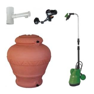 Kit per il recupero e utilizzo di acqua piovana da grondaia Fornid