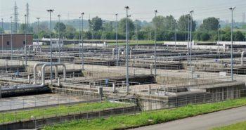 impianto di depurazione delle acque provenienti dalle fognature