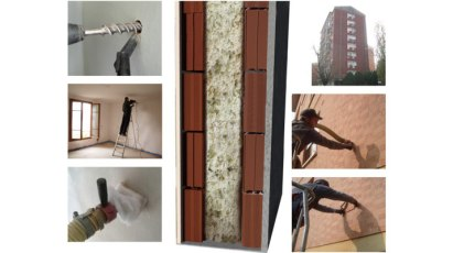 intervento con tecnica di insufflaggio per isolare termicamente una casa