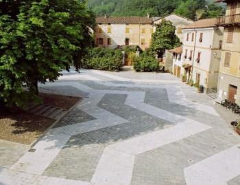 pavimentazione urbana realizzata in pietra di Luserna
