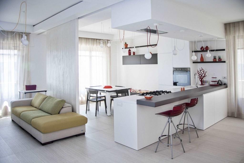 Idee Arredamento Soggiorno Con Cucina A Vista.Soggiorno Con Cucina A Vista Blog Casaomnia
