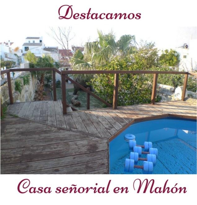 casa en venta con jardin y piscina en venta en Mahon