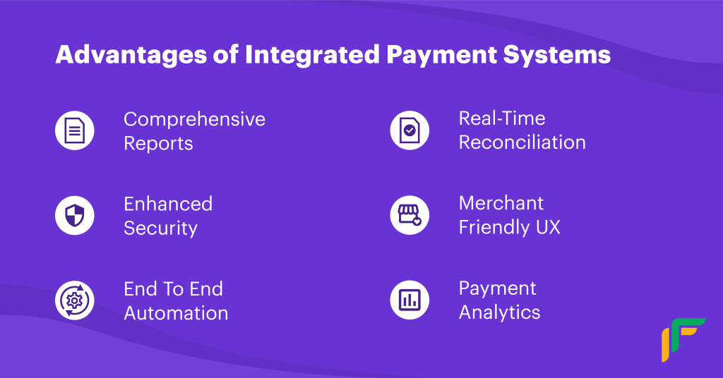 Integrated Payment System advantages
