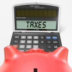 Taxes On Calculator Showing HMRC Return Due