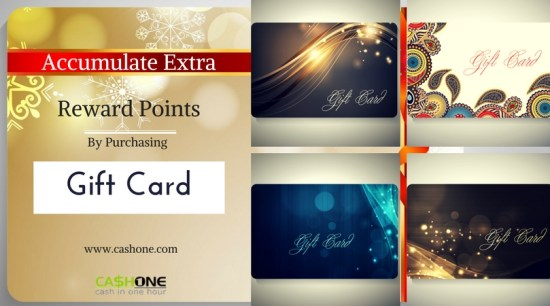 Accumulate Extra Reward Points by Purchasing Gift Cards
