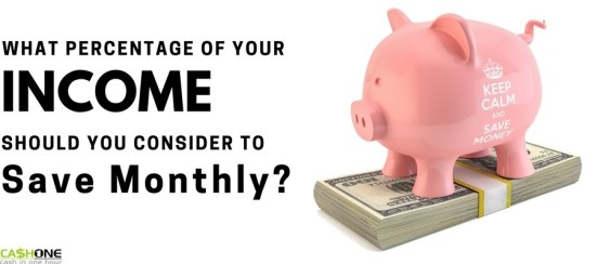 What percentage of your income should you save monthly