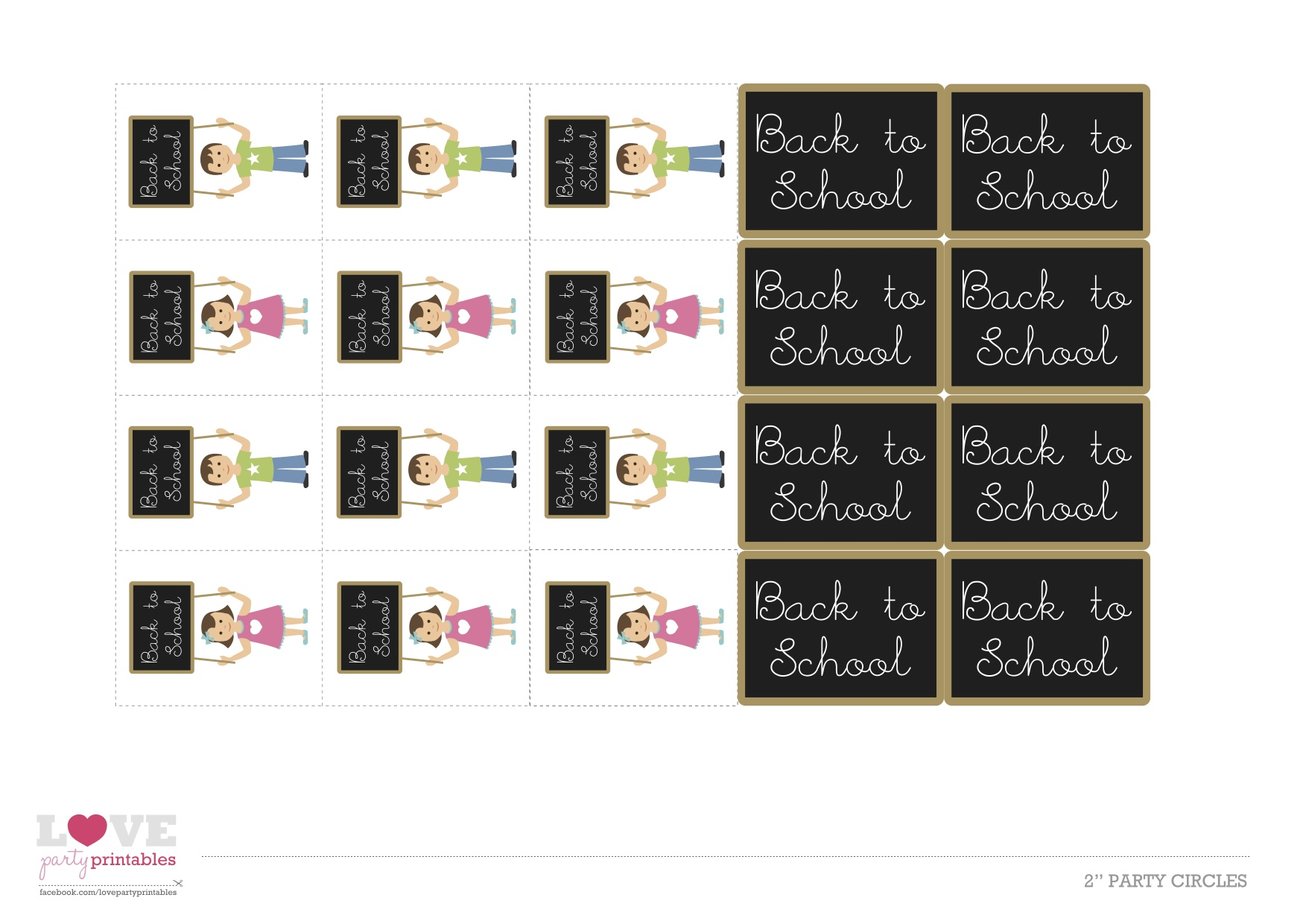 Free Back To School Printables From Love Party Printables