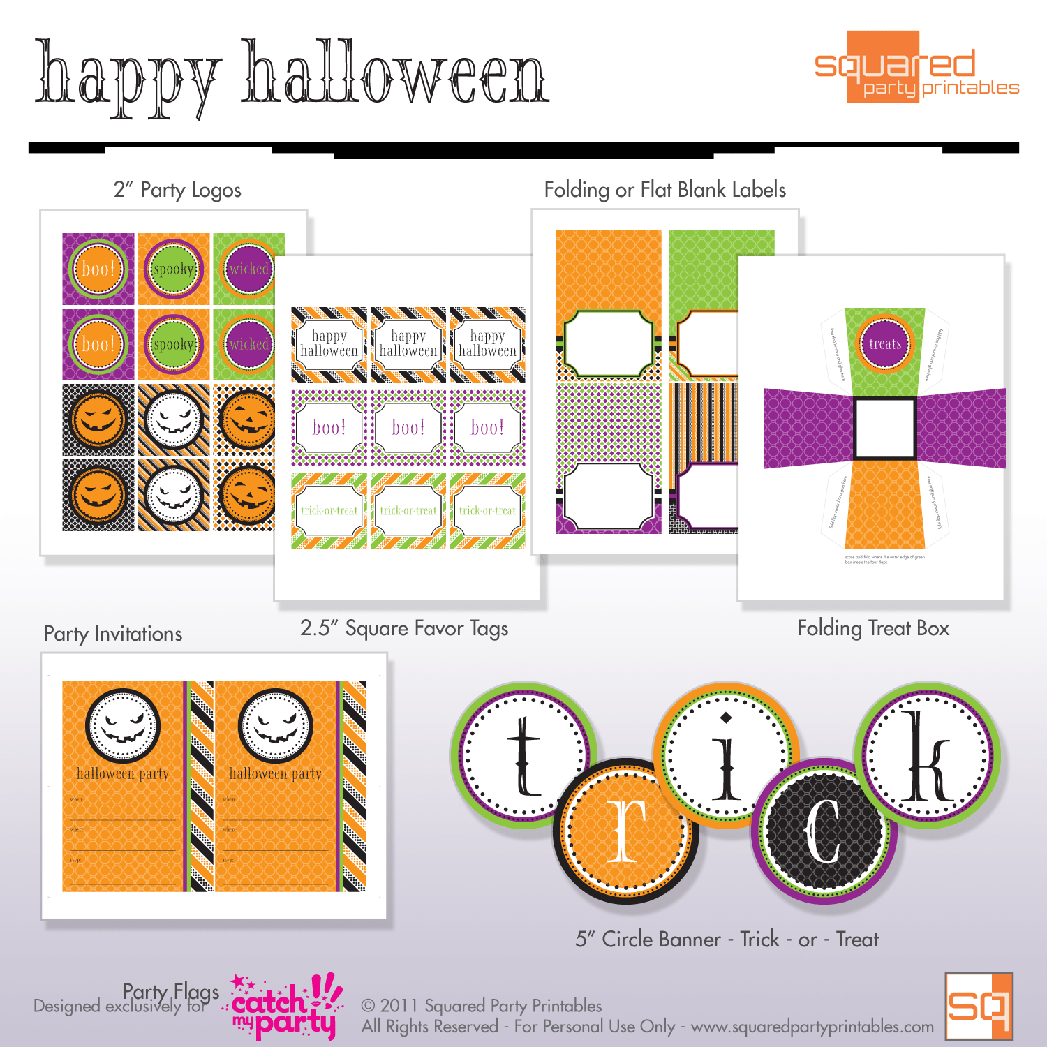 Free Halloween Party Printables From Squared Party Printables