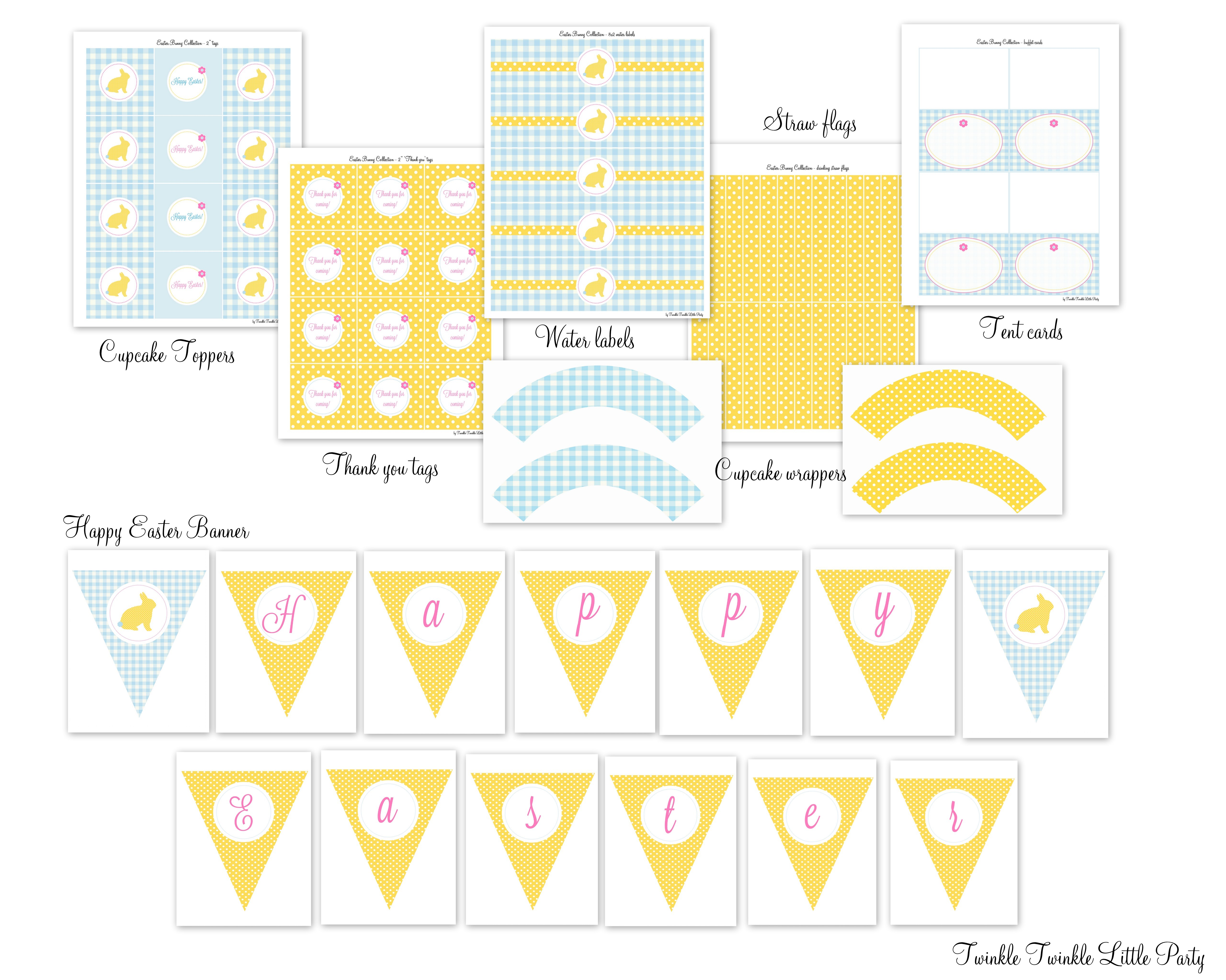 Free Easter Printables From Twinkle Twinkle Little Party
