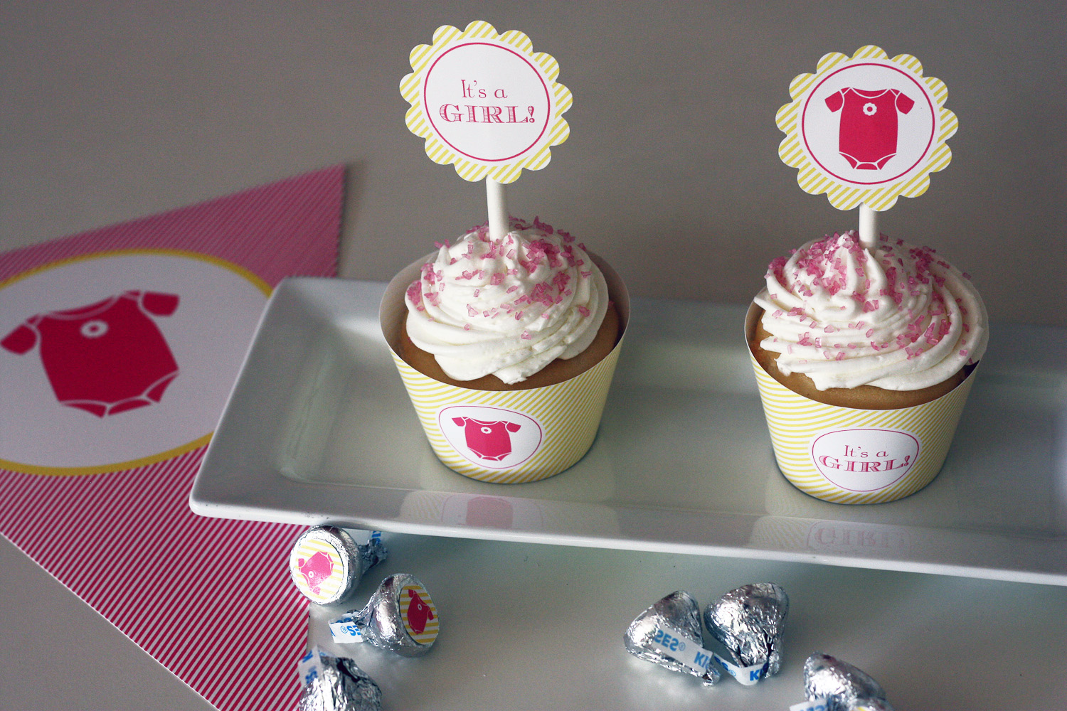 Free It S A Girl Baby Shower Printables From Green Apple Paperie