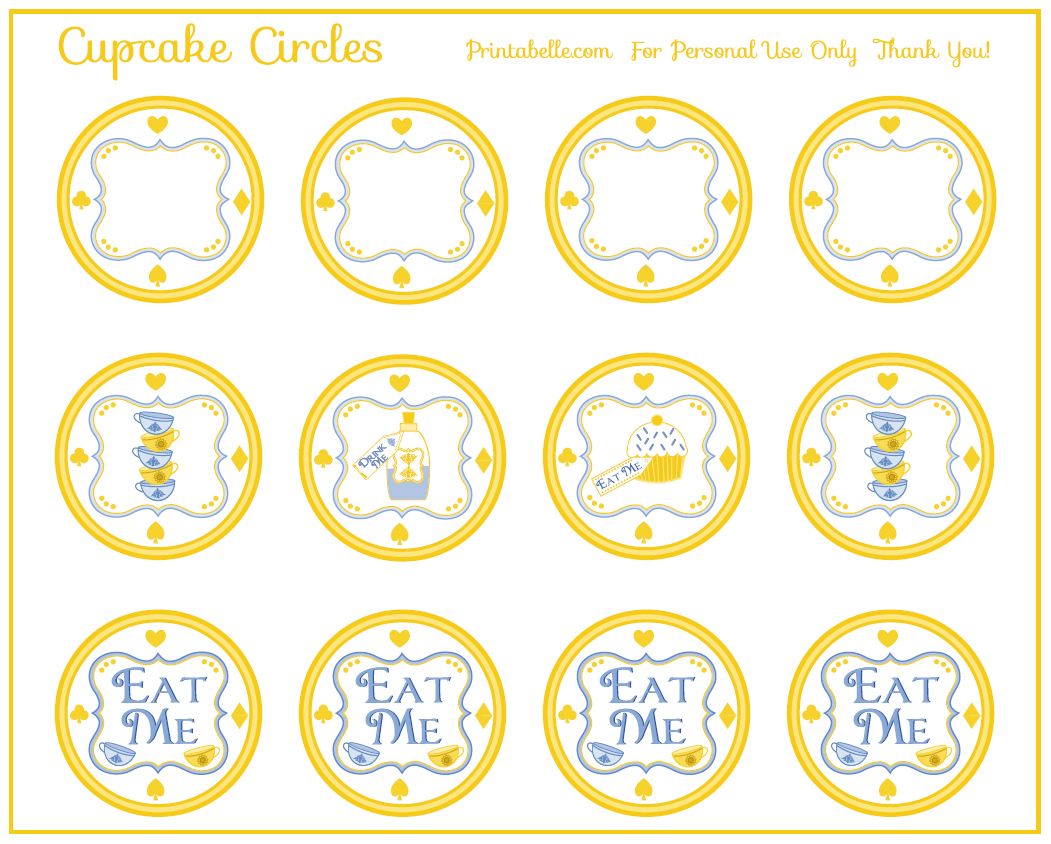 Free Alice In Wonderland Tea Party Printables Catch My Party