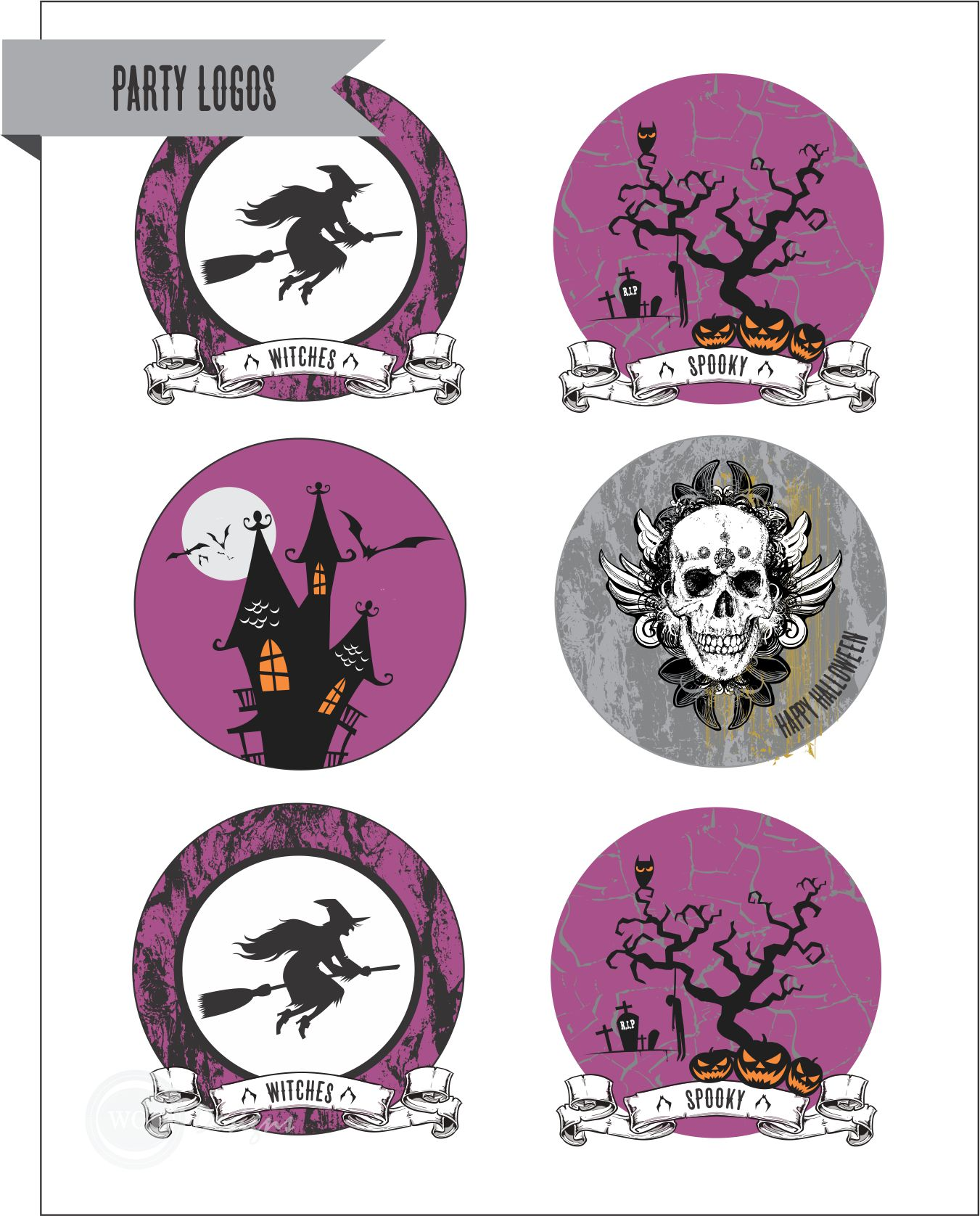 Free Halloween Party Printables From Wcc Designs