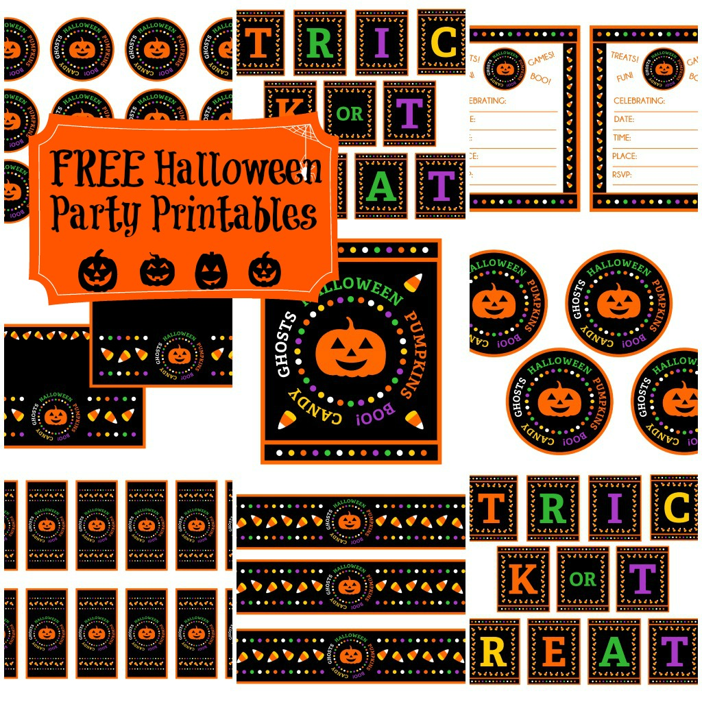 Free Candy Corn Halloween Party Printables From Printabelle