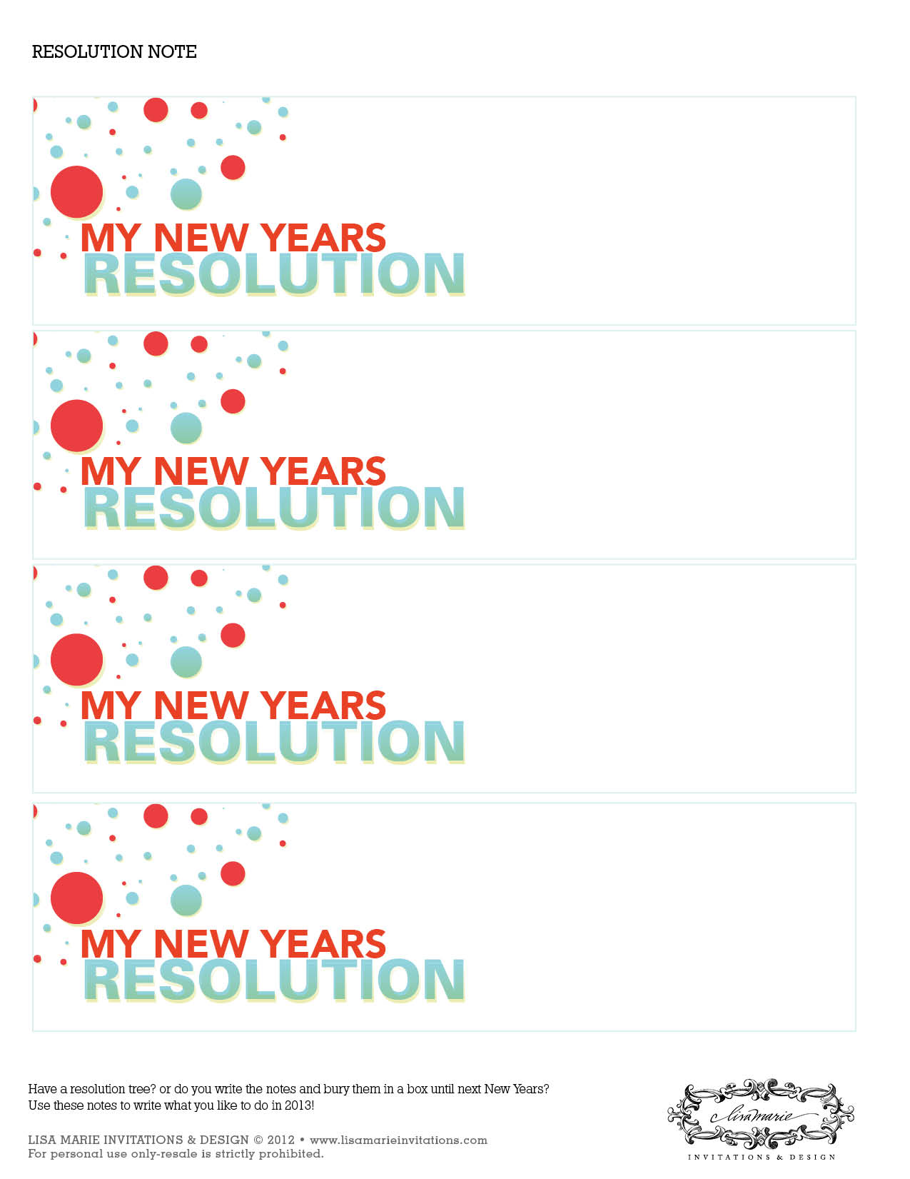 Free New Year S Party Printables From Lisa Marie Invitations And Designs