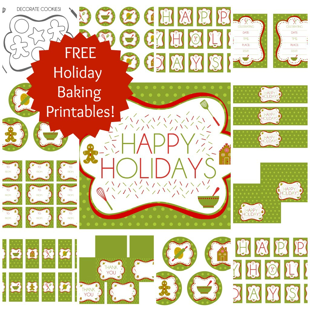 Free Holiday Baking Party Printables From Printabelle