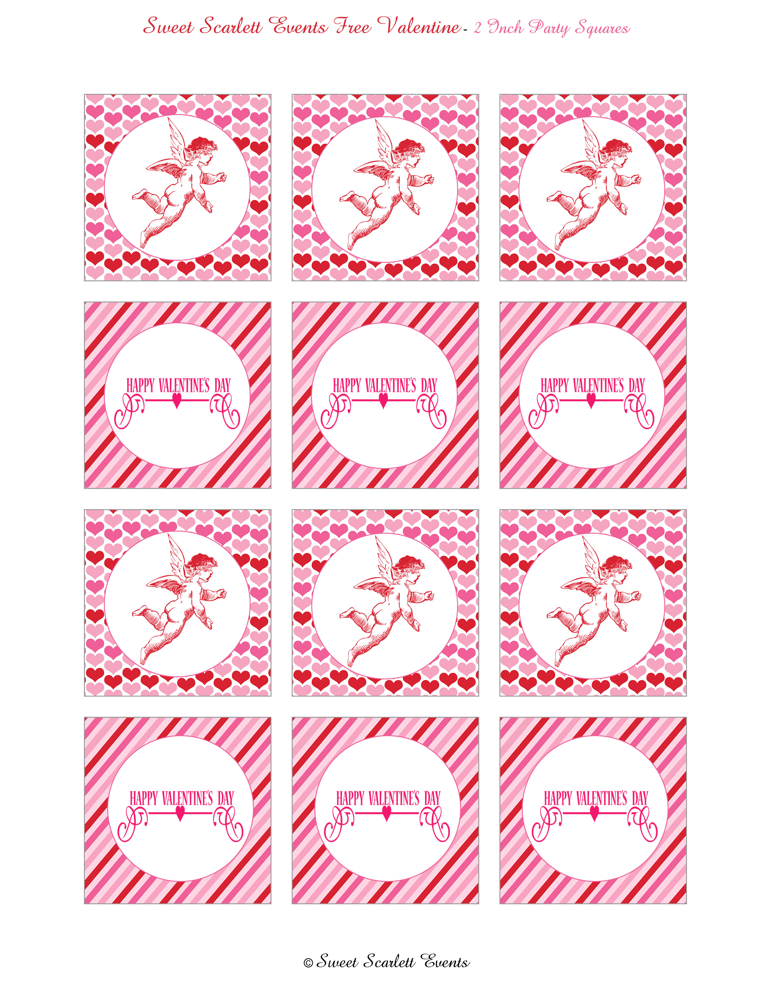 Free Valentine S Day Printables From Sweet Scarlett Events