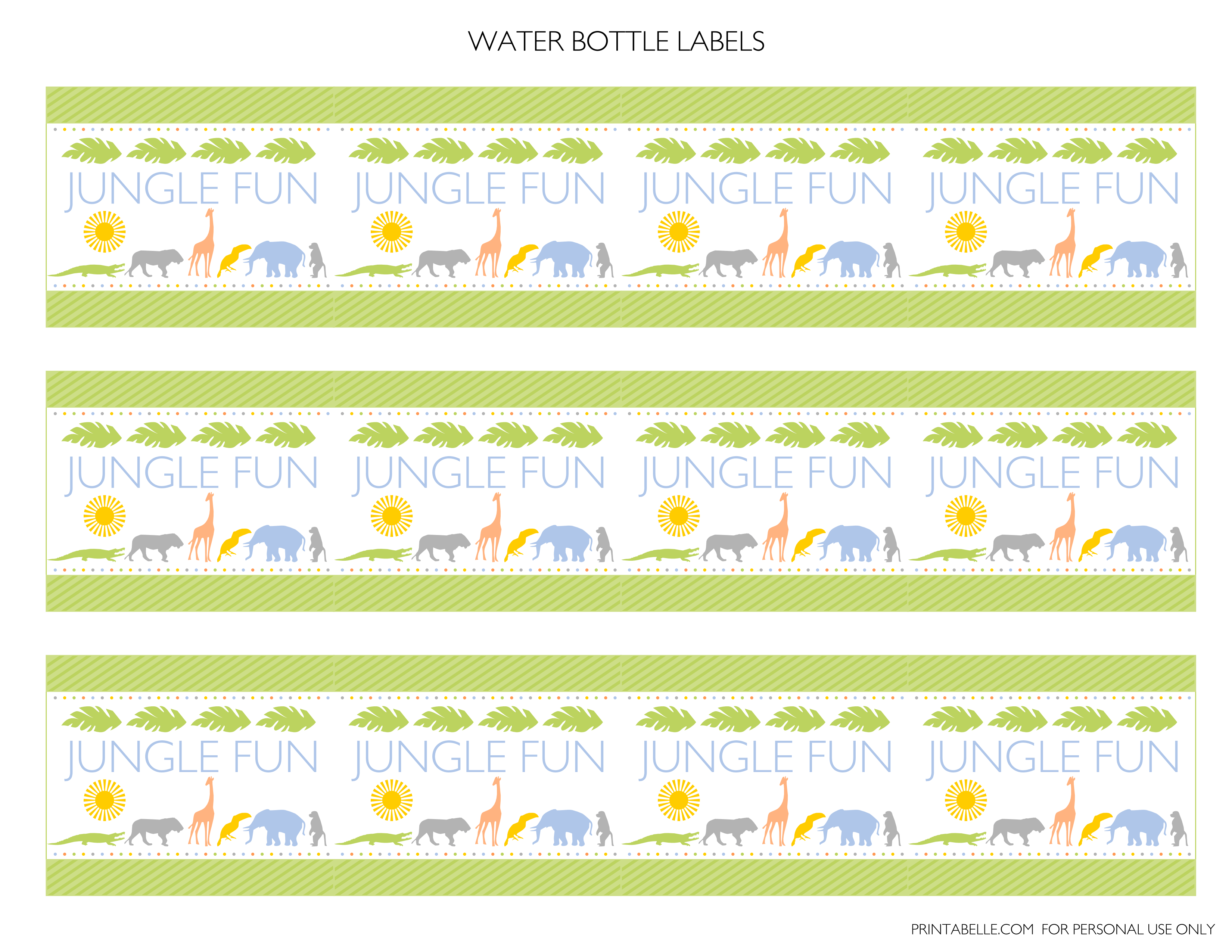 Free Jungle Party Printables From Printabelle