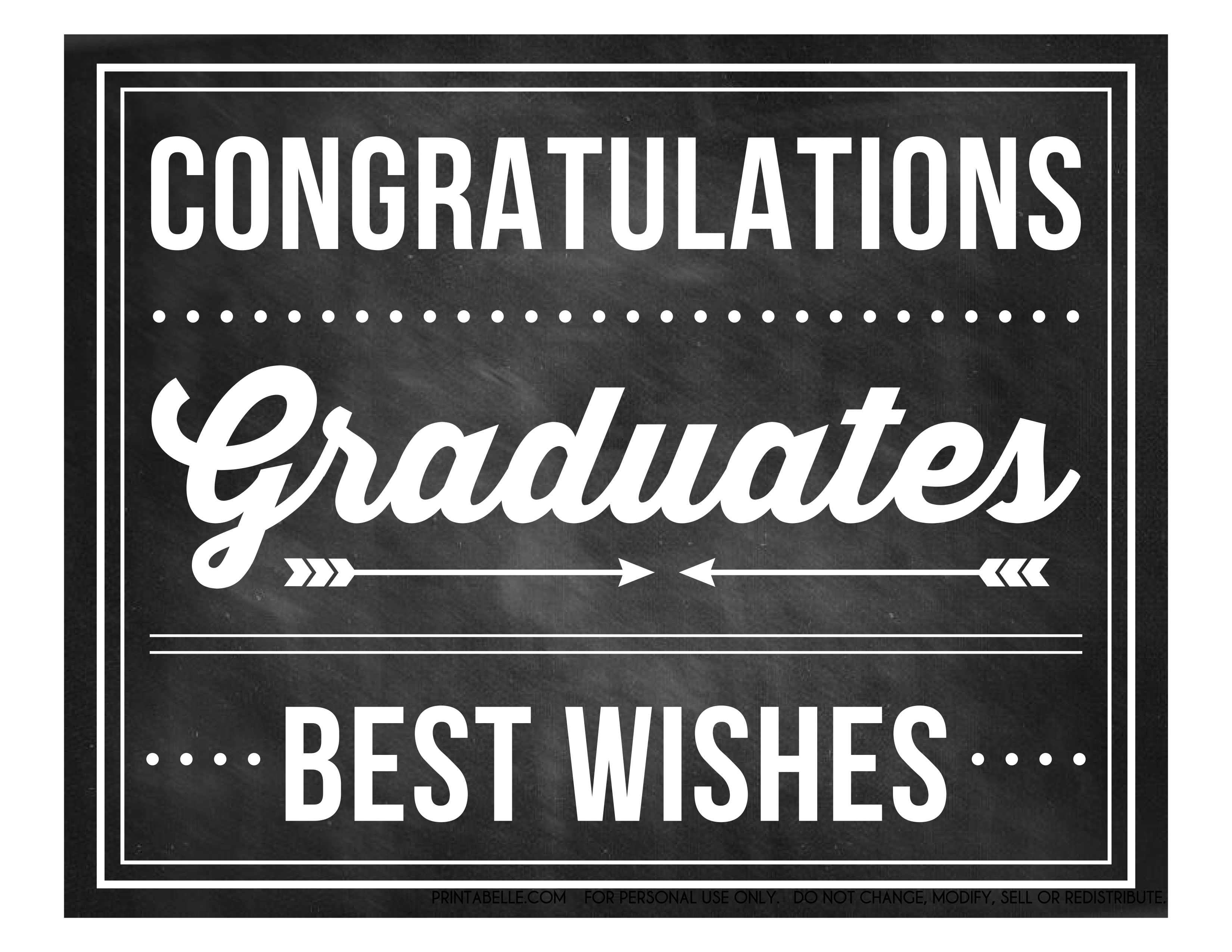 Free Graduation Chalkboard Party Printables From