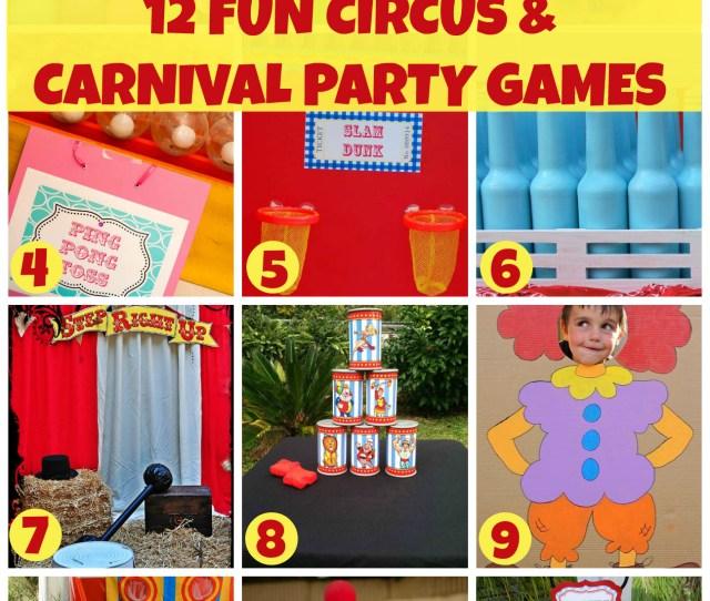 Fun Circus Carnival Party Games