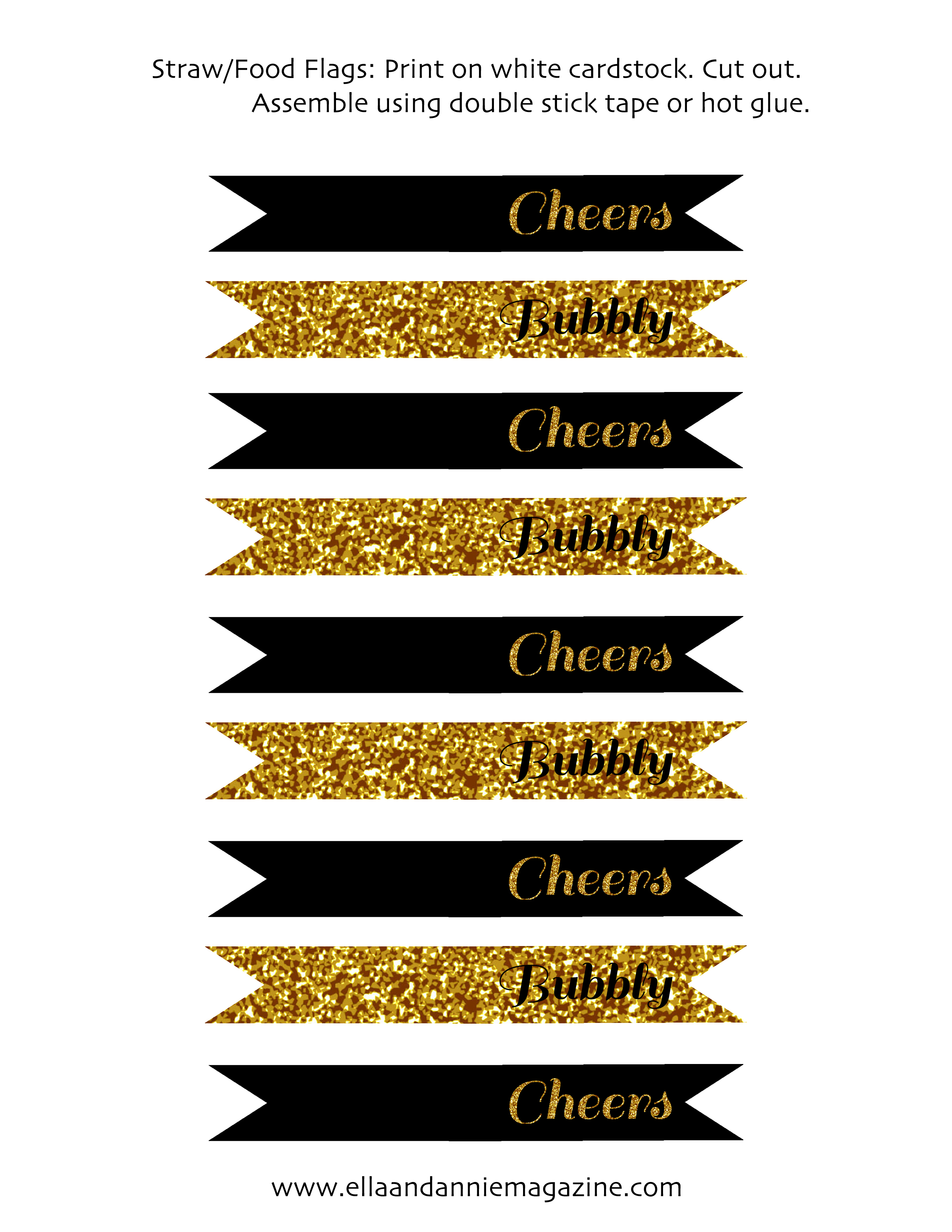 Free New Year S Eve Party Printables