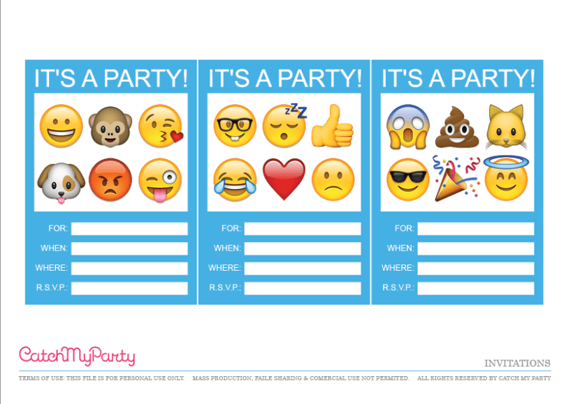 The Free Emoji Party Printables Here