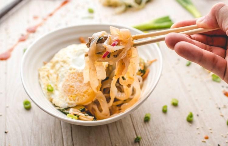 Paleo bimbimbap Miracle Noodle bowl