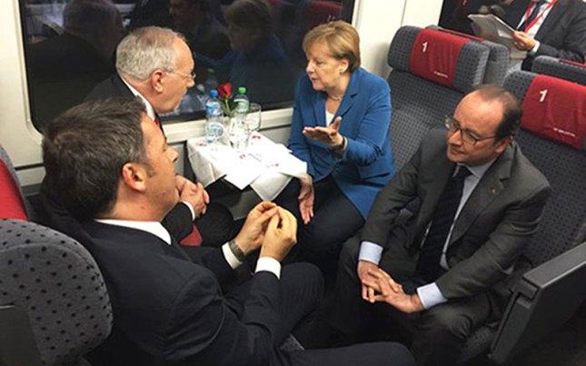 Traversée de Rynäch à Pollegio avec les chefs d'État des pays voisins.