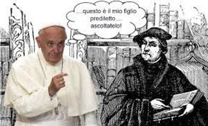 L'antipape François Ø défend la doctrine hérétique de Luther