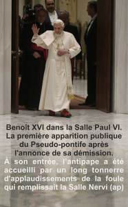 Benoit XVI démission...