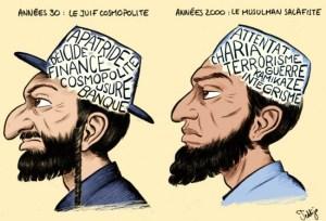 Teddijo, caricature juif-djihadiste
