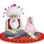 Mariage de Mahomet avec Aïcha fillette