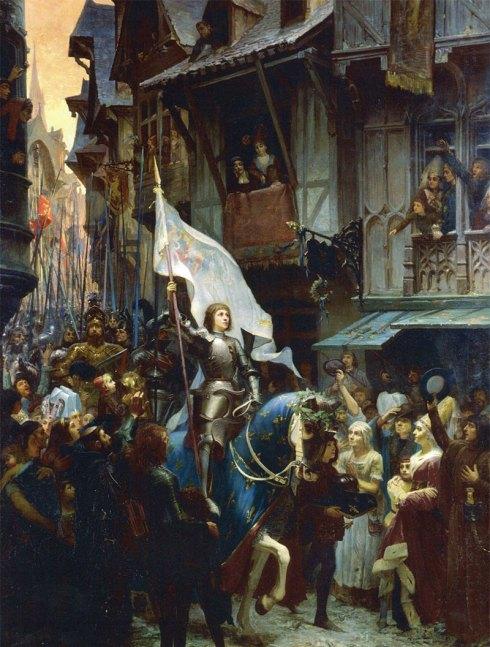 Jeanne D'arc fait entrer son armée dans la ville d'Orléans
