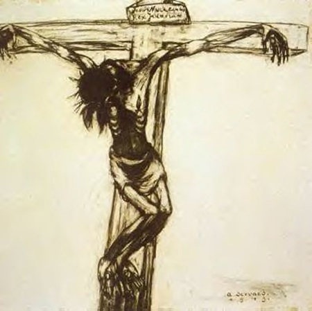 La « Crucifixion » de Servaes, condamnée par le Saint-Office en 1921.