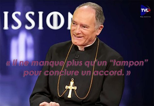 Monseñor Fellay, el búfer ...