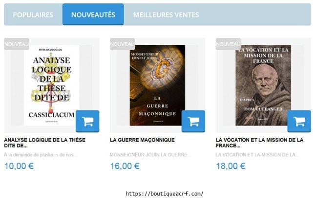 Trois nouveautés aux Éditions ACRF